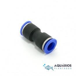 Conector união para mangueira CO2 6 mm - AP321
