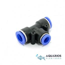 Conector T para mangueira CO2 6 mm - AP322